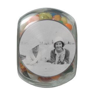 Señoras en el tarro de cristal del Belly de la Jarrones Cristal