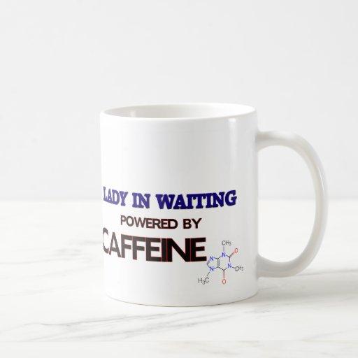 Señoras en esperar accionado por el cafeína taza