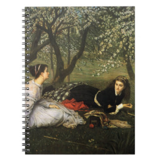 Señoras en los flores de Apple Libro De Apuntes