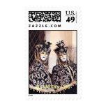 Señoras en sello del carnaval de Venecia