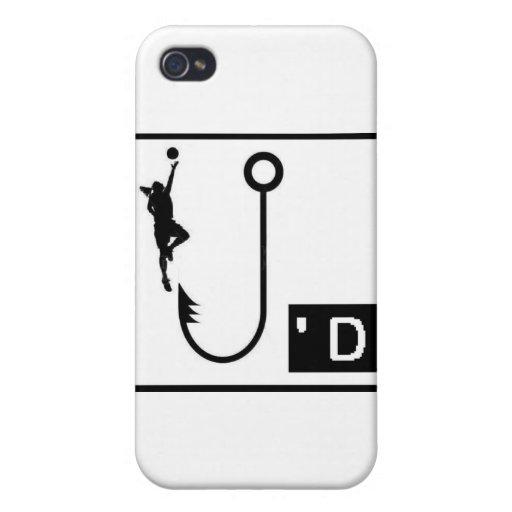 Señoras enganchadas baloncesto iPhone 4/4S carcasa