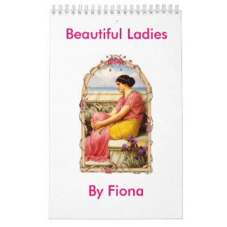 Señoras hermosas calendarios de pared