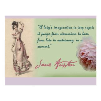 Señoras imaginación, cita de Jane Austen Tarjeta Postal