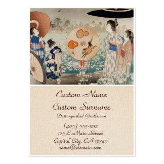 Señoras japonesas del ukiyo-e del vintage con arte tarjetas de visita grandes