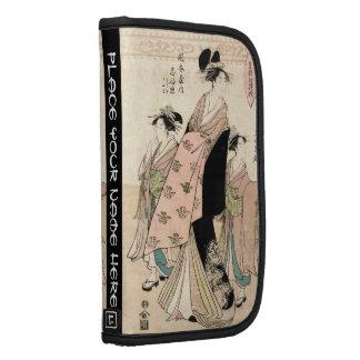 Señoras japonesas frescas del geisha del ukiyo-e d organizadores