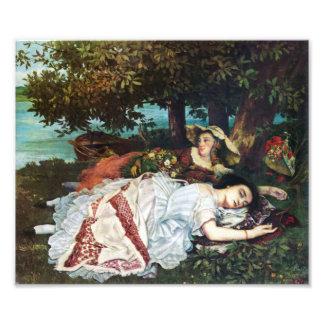 Señoras jovenes de Courbet en los bancos del Sena Fotos