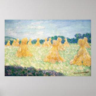 Señoras jovenes del efecto de Giverny Sun de Impresiones