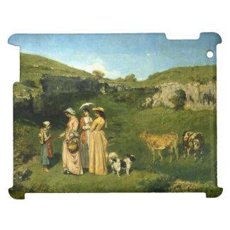 Señoras jovenes del pueblo de Gustave Courbet