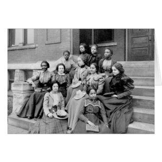 Señoras jovenes en Fisk, 1890s Tarjeta De Felicitación