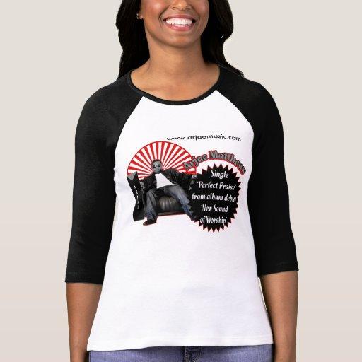 Señoras L/S de la música de Arjae Matthews Camiseta