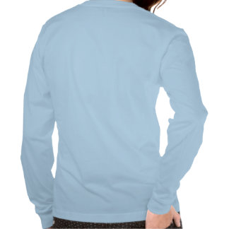 Señoras la manga larga de la red antisocial camisetas