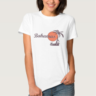 Señoras llevadas vintage T de Bahamas Polera