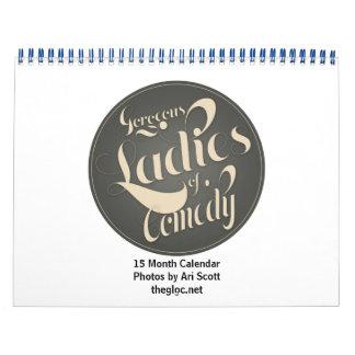 Señoras magníficas de la comedia calendario de 15