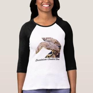 Señoras nubladas Dominican de la boa 3/4 raglán de Camisetas