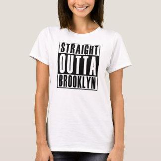 Señoras Outta recto Brooklyn Playera