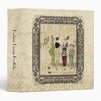 """Señoras parisienses de moda del vintage con el carpeta 1 1/2"""""""