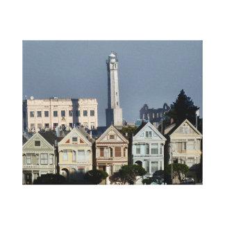 Señoras pintadas y Alcatraz Impresión En Lona