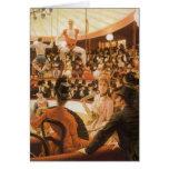 Señoras que se divierten (o amante del circo) por tarjetón
