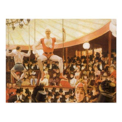 Señoras que se divierten (o amante del circo) por tarjetas postales