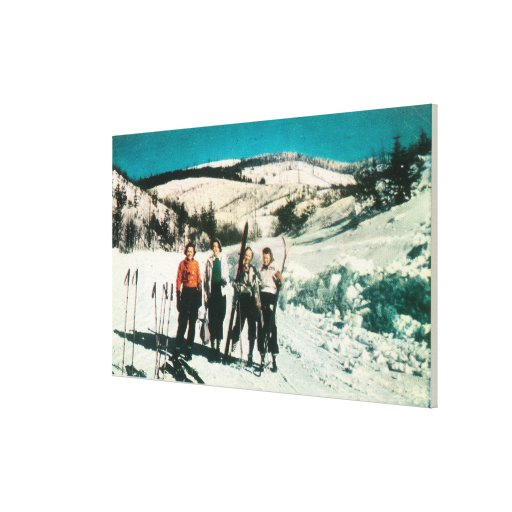 Señoras SkiingWashington del parque de estado del  Lona Estirada Galerías
