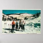 Señoras SkiingWashington del parque de estado del  Impresiones