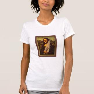 Señoras T-shir de Mona Lisa del salterio Playera