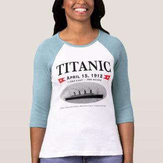 Señoras titánicas de la nave del fantasma 3/4 camiseta
