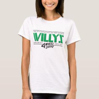 Señoras verdes de Willys 4WD Playera