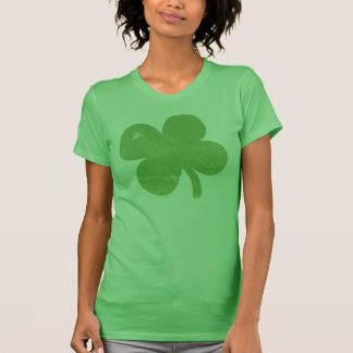 Señoras verdes del trébol del vintage tee shirt