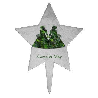 Señoras verdes gay hiedra y primero lesbiano de la decoración para tarta