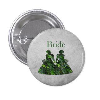 Señoras verdes hiedra y Pin de Handfasting de la Pin Redondo 2,5 Cm