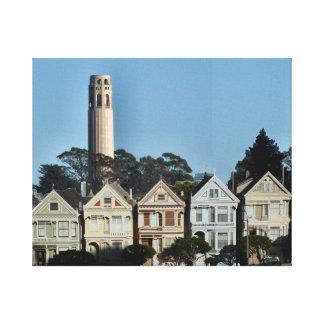 Señoras y torre pintadas de Coit Impresiones En Lona Estiradas