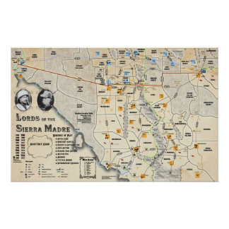 Señores del poster del mapa de Sierra Madre