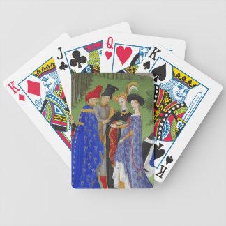 Señores y señoras medievales baraja de cartas bicycle