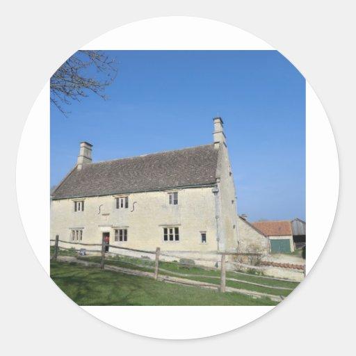 Señorío de Woolthorpe, hogar de sir Isaac Newton Pegatinas Redondas