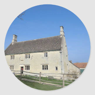 Señorío de Woolthorpe, hogar de sir Isaac Newton Pegatina Redonda