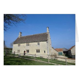 Señorío de Woolthorpe, hogar de sir Isaac Newton Tarjeta De Felicitación