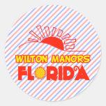 Señoríos de Wilton, la Florida Etiquetas Redondas