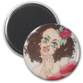 Señorita 2 Inch Round Magnet