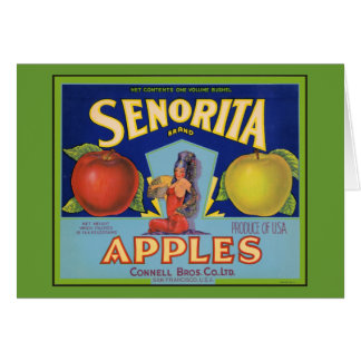 Senorita Apples San Francisco Card