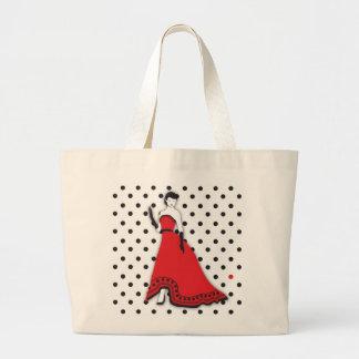 Senorita clásico en rojo bolsas de mano