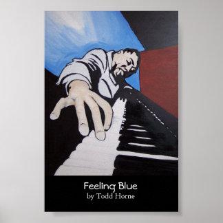 Sensación azul póster