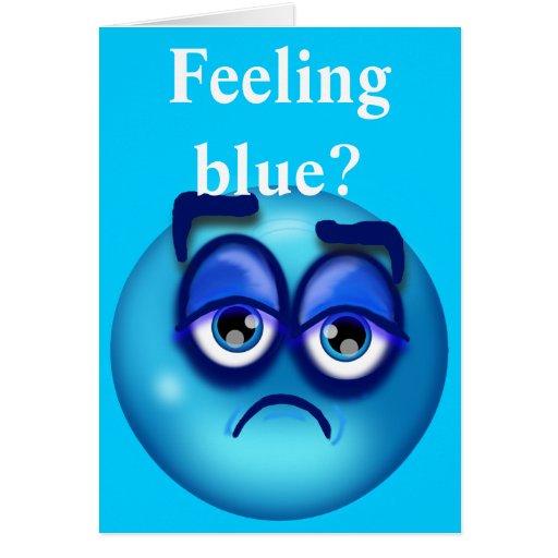 Sensación azul tarjeta