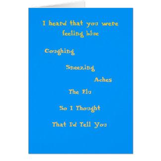 Sensación azul tarjeta de felicitación