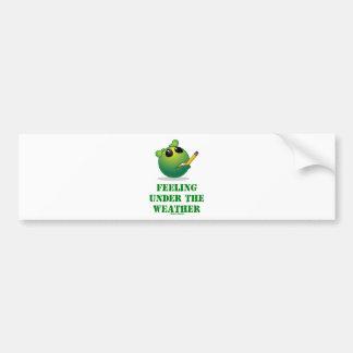 Sensación bajo tiempo (actitud extranjera verde) etiqueta de parachoque