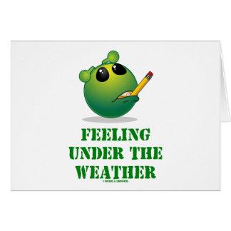 Sensación bajo tiempo (actitud extranjera verde) felicitación
