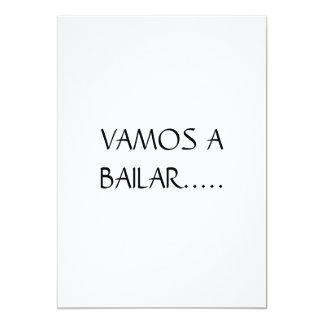 Sensación cubana invitación 12,7 x 17,8 cm