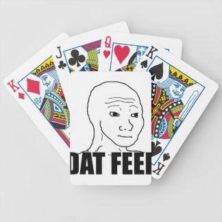 Sensación de Dat Baraja Cartas De Poker