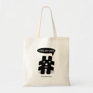 Sensación de Hashtag I usada tan Bolsa Tela Barata