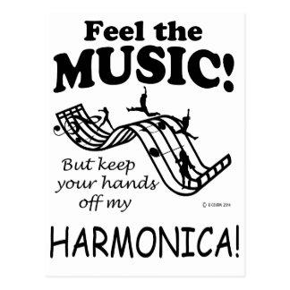 Sensación de la armónica la música tarjetas postales